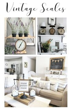 We want to show you how you can repurpose those vintage scales in such a way, that you'll be running to the closet thrift store to buy one if you don't already have one. It won't matter if you have a confectioner's scale, an equal arm scale or a trade scale. You just have to add one to your farmhouse decor.