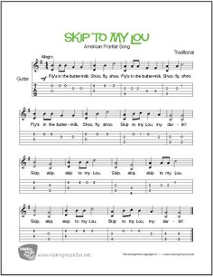 beginner guitar sheet music pdf