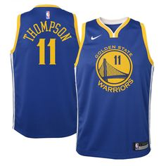 d4b049cf Klay Thompson Golden State Warriors Nike Youth Swingman Jersey Blue - Icon  Edition