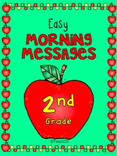 2nd Grade Morning Message - aligned with Common Core and differentiated.  Paid