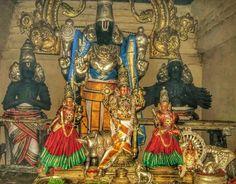 Deavdiraja Perumal with Garuda and Markandeya Om Namah Shivaya, Great King, Goddess Lakshmi, Lord Vishnu, Old Images, God Pictures, Hindus, Indian Gods, Gods And Goddesses