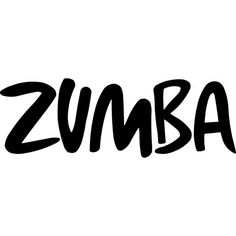 ZUMBA DECAL Text ($4.95) ❤ liked on Polyvore