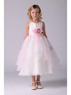 Ball Gown Flower Girl Dresses with Handmade Flowers 402012