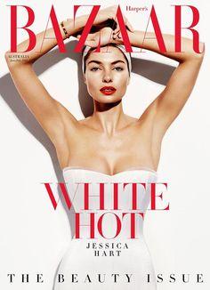 ModelJessica Hart coversHarper's Bazaar Australia -The Beauty Issue- June/July 2014, shot by Simon Upton.