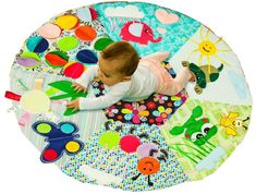 "Physical Health and Well Being PW2: The young infant begins to use arms and legs purposefully. Place child on a mat, rug or blanket in a safe area on the floor to allow for freedom of movement. Provide frequent ""tummy time"" while closely supervising."