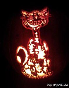 Pumpkin Carving of cat