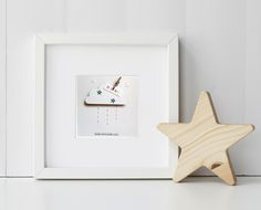 Newborn-Birthday-Christening Cloud  - Keepsake Frame a Perfect Gift with Personalised Date and Name Detail by cherishwithlove on Etsy