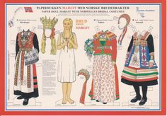 traditional Norwegian paper dolls