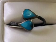 Cute Sterling Silver and Turquoise Ring  $38  Dealer #282  Lula B's  1010 N. Riverfront Blvd. Dallas, TX 75207   Like us on Facebook: https://www.facebook.com/pages/Lula-Bs-Antique-Mall/35282597866