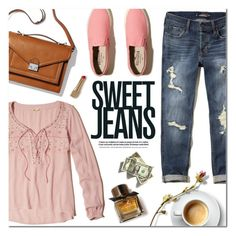 """""""Sweet Jeans"""" by alexandrazeres ❤ liked on Polyvore featuring Hollister Co., Loeffler Randall, Burberry, denim, sweet, jeans, fashionset and fallfashion"""