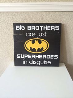 Big Brothers are just SUPERHEROES in Disguise Batman by WTGDesigns, $35.00