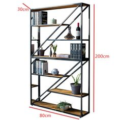 bookcase with diagonals