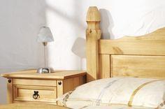 #Bett Mexiko   Pinie Massiv   Hellbraun   Gebeizt U0026 Gewachst