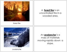 Natural Disasters - Book Weather Cards, Seasonal Image, Title Card, Shop Usa, Natural Disasters, Timeline, Booklet, Montessori, Northern Lights