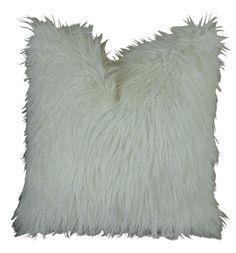 Curly Mongolian Fur Handmade Throw Pillow