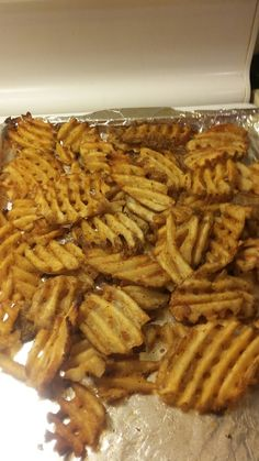 Alexia all natural waffle fries have no Gmo and are perfectly seasoned and ready to use
