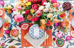 Table Setting by Jamie Meares for A Local Palette #southern #boho