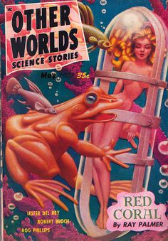 bizarre pulp covers | ... pulp - May 1951 issue.Wonderfully bizarre cover art by Hannes Bok