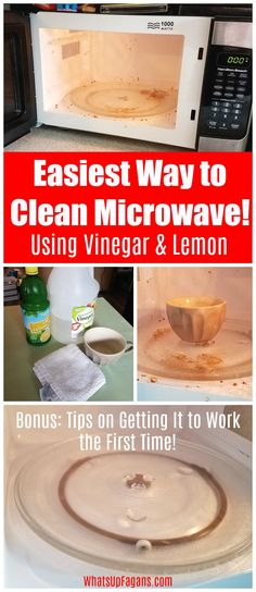 How To Clean A Microwave With Vinegar   Steam  No Scrubbing    HOME     Have a gross  dirty  stained microwave oven  Use these tips on how to