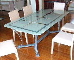 Painted Glass Table