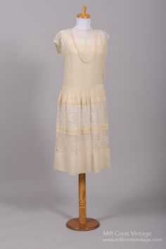 1920 Gatsby Lace Vintage Wedding Dress : Mill Crest Vintage