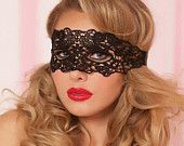 Black Lace Mask Lace tie back Queen Mask Masquerade Mask Sexy Lingerie Mask Black Lace Mask M031