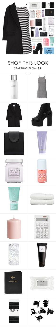"""""""CAUGHT IN A WILD EMBRACE"""" by elainesabine ❤ liked on Polyvore featuring Hermès, MaxMara, Shay, Kate Somerville, Laura Mercier, CASSETTE, Boohoo, KORA Organics by Miranda Kerr, Linum Home Textiles and H&M"""