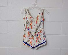 vintage swimsuit /  Vintage 50's Bathing by Planetclairevintage