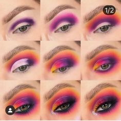 makeup idivine eyeshadow palette makeup bridal makeup tutorial beginners makeup remover makeup for blue eyes makeup kit cost makeup base eyeshadow holder Makeup Eye Looks, Eye Makeup Steps, Eye Makeup Art, Cute Makeup, Skin Makeup, Makeup Kit, Sleek Makeup, Rainbow Eye Makeup, Colorful Eye Makeup