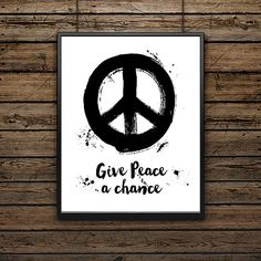 Give Peace a Chance/John Lennon/Art Print/Song by SouthernSassArt