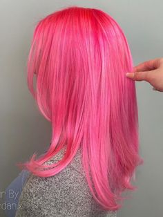 Pink hair over EVERYTHING 🙌💕 @hairbyjordan.x used Electric Paradise ✨ #afelectricparadise Hair Color Pink, Cool Hair Color, Pink Hair, Hair Colors, Bright Hair, Bright Pink, Semi Permanent Hair Dye, Arctic Fox Hair Color, Glow Effect