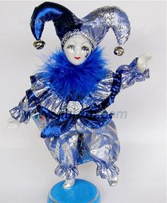 female porcelain clowns and jesters | Clown Doll (JL-09071) - China Clown doll, Porcelain doll