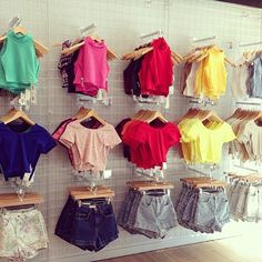 Spandex Crop Tops + High-Waist Shorts. Easy festival wear outfit ideas! #AmericanApparel #festivalwear
