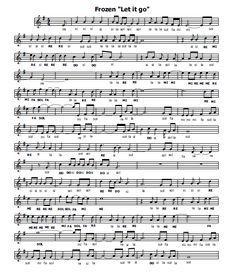 Frozen - Let it go Alto Sax Sheet Music, Violin Sheet Music, Free Sheet Music, Music Sheets, Frozen Let It Go, Piano Tutorial, Christina Perri, Letting Go, Green Day