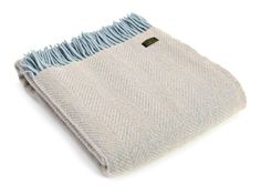 HERRINGBONE PURE WOOL THROW - DUCK EGG TWEEDMILL WOOL BLANKET A stunning selection of blankets and throws made in Britain using 100 lsquo Pure New