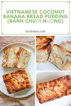 Coconut Banana Bread, Best Banana Bread, Pastry Recipes, Cooking Recipes, Vietnamese Food, Vietnamese Recipes, Pudding Desserts, Dessert Recipes, Asian Cake