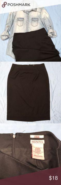 Black pencil skirt Merona black pencil skirt. Size 2. Ready to be yours!! Merona Skirts Pencil