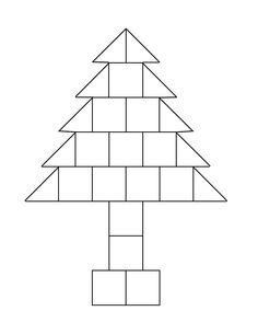 bouwvoorbeeld voor kerstboom liggend met blokken uit de bouwhoek Christmas Crafts, Teaching, School, Lego, Education, Winter, Blue Prints, Bricolage Noel, Diy Christmas Tree