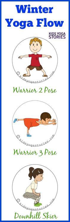 Winter Yoga theme with a 3-yoga pose flow | Kids Yoga Stories