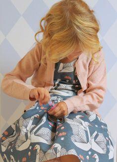 Van Jansen: Herfstzwanen Fabric by Andrea Lauren