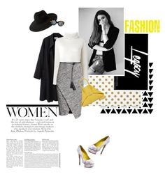 """Rise & Grind"" by lisalockhart ❤ liked on Polyvore featuring Kate Spade, La Garçonne Moderne, Proenza Schouler, H&M, Tom Ford, Akris, Charlotte Olympia, MANGO, Karen Walker and turtleneck"