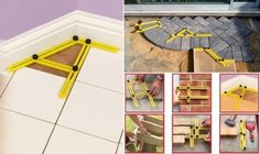 Four Sided Template Tool is a Great Help for All Kind of Tiles Installation