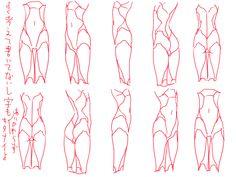 Female torso turn around Body Reference Drawing, Body Drawing, Anatomy Drawing, Anatomy Art, Anatomy Reference, Art Reference Poses, Tutorial Draw, Body Sketches, Body Anatomy