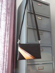 Karyn pochette/sac suedine et cuir