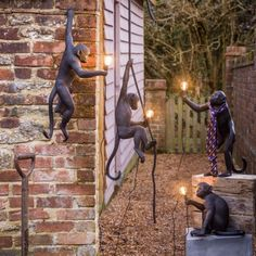 Add some cheeky charm to your garden with our Outdoor Black Monkey Lights. Unique Lighting, Outdoor Lighting, Lighting Design, Lighting Ideas, Quirky Garden Lighting, Luxury Lighting, Decoration Branches, Sweet Home, Deco Originale