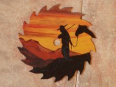 'END OF THE DAY' painted on re-cycled 7-1/4 inch saw blade.  $15