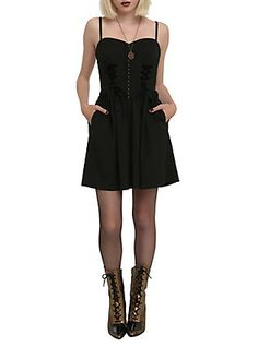 Spin Doctor Elysium Dress, BLACK