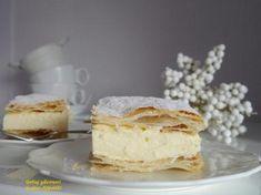 Domowe napoleonki Pudding, Desserts, Food, Kuchen, Tailgate Desserts, Deserts, Custard Pudding, Essen, Puddings