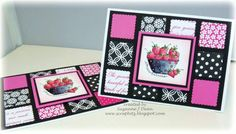 Hot-n-Pink Strawberries by suzannejdean - Cards and Paper Crafts at Splitcoaststampers  (Feb'13)