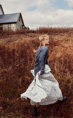 flowy movement. Boots and linens